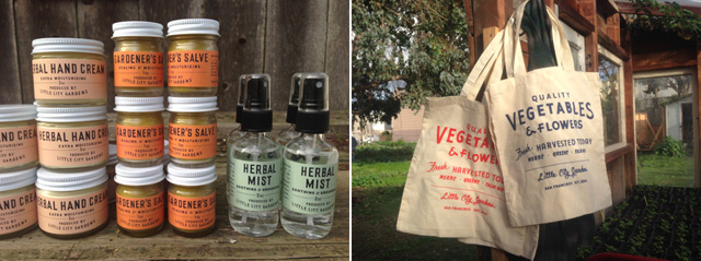 herb products and totes