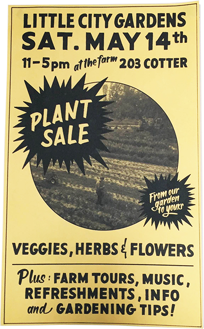 plant sale poster website